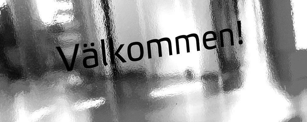 Banner med texten Välkommen